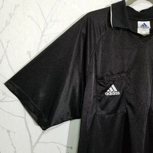 Adidas Shiny Black Golf Polo Shirt w/ Logo